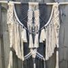 Macrame Wall Hanging -  Paris - handmade, Colour: white, slate grey, handmade