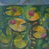 Water lilies. Acrylic on paper 10x10