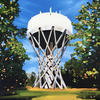 Cockfosters Water Tower, oil painting on canvas board, SOLD