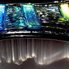 JHSglass - Jenny Hoole - Waterfall bowl 24 x 24cm