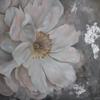 White peony painting, big canvas,
