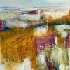 Wish I was here. Abstract Landscape. Mixed media on Canvas Board