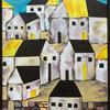 Yellow roofs - cityscape : acrylics on wood, 40x30cm £55