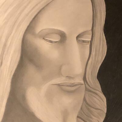 "Graphite Pencil ""Man Of Sorrows"""