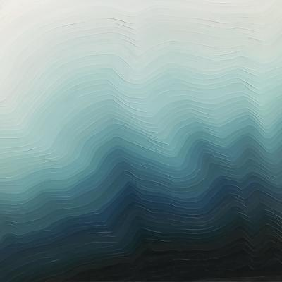 'Current' 100 x 120 x 4.3 cm textured oil paint on canvas from the 'What Lies Beneath' series