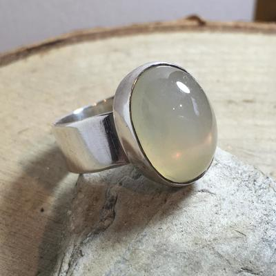 Grey Moonstone Ring.