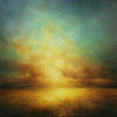 Awakening. Oil on canvas. Sunrise