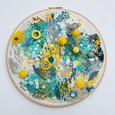 Hand Embroidered Textile Art
