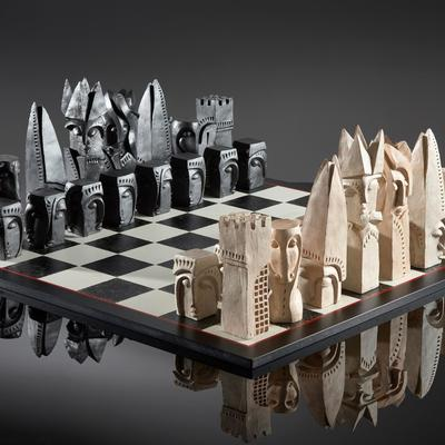 Chess Set  - Resin - Edition of 9 - 100x100x28cm
