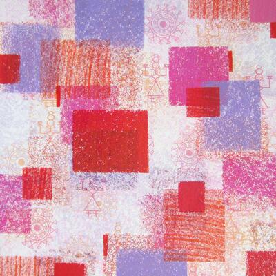 "Christine Calow - ""Indian Images No.1"" Silkscreen Print"