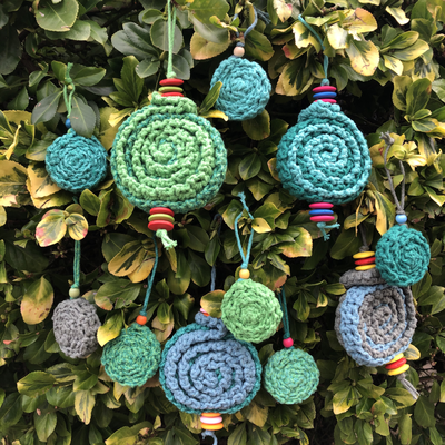 Handmade, crocheted Christmas Baubles - unique and eco-friendly - made to order or available on my website.
