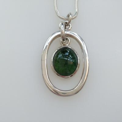 Silver and Tourmaline Pendant