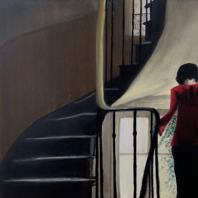 'L'escalier' Oil on Canvas
