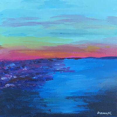 'Sunset Colours' acrylic on canvas