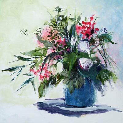 Floribunda 2, Acrylic on board 40 x 40 cm