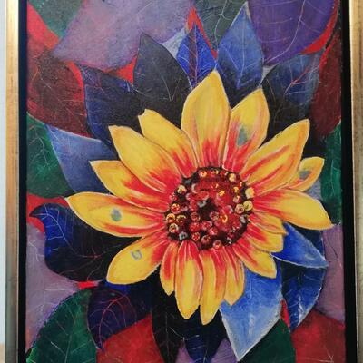 Flower 2020. Acrylic on canvas