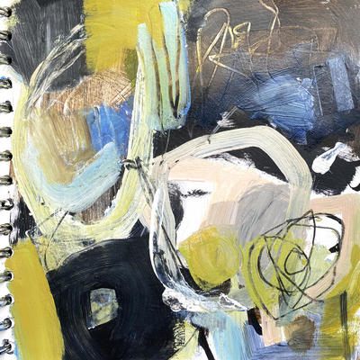 From the Inside-Mixed Media on Paper