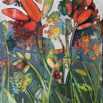 'Winter Tangle' acrylic on paper 40cm x 30cm