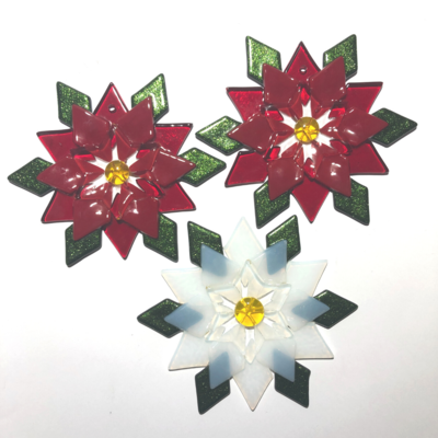 Fused Glass Poinsettia