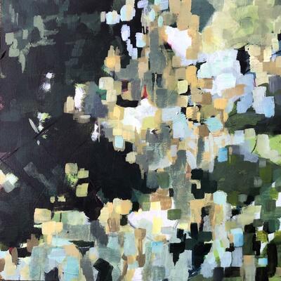 Depths, mixed media, 57 x 57 cms, £400