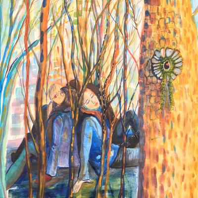 'Forest Bathing' Mixed Media