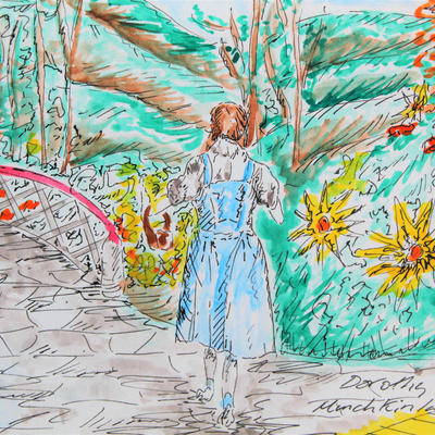 Judy Garland as Dorothy Gale in Munchkinland in Victor Fleming's The Wizard Of Oz.