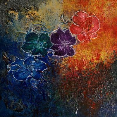 Blossom -  Original Texture Art Abstract Acrylic Painting