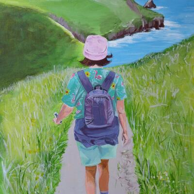 Coastal Path acrylic on canvas