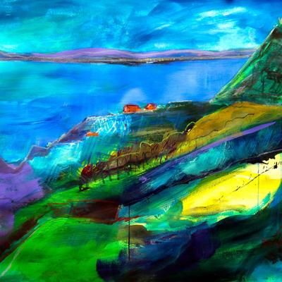 Jurassic Coast, mixed media 1100x750 mm