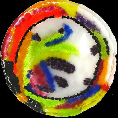 jhsglass - Jenny Hoole - wobbly bowl detail