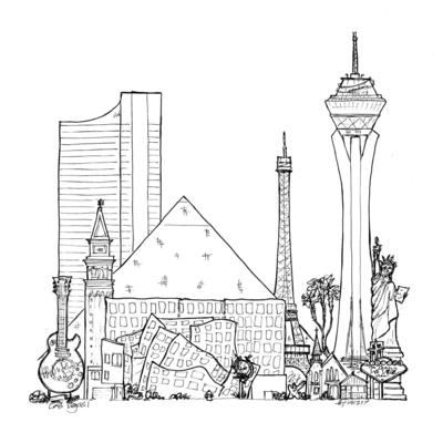Las Vegas composite townscape white