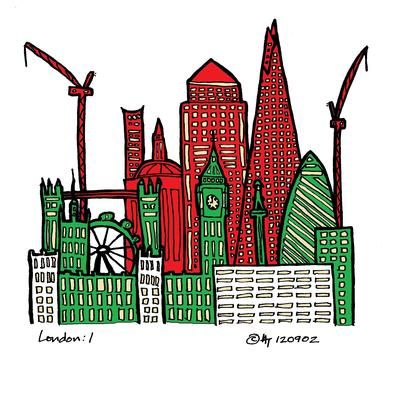 London red green gold white