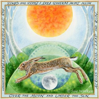 Hare Morning - watercolour