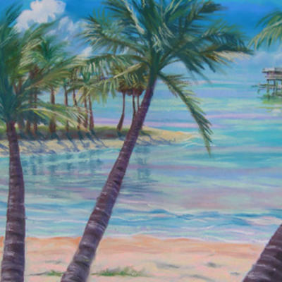 Pastel landscape by Vanessa Bryson