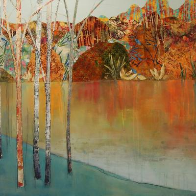 Warm Autumn Day by Anna Perlin, Mixed media