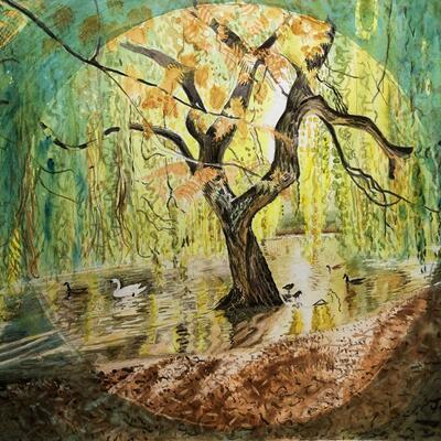 World-under-Willow    watercolour
