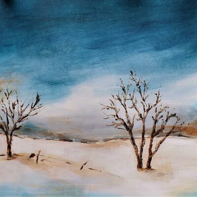 Winter Landscape 2 - 29.7x42cms - acrylic