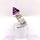 Amethyst Bullet Cabochon Etched Silver Statement Ring Witches Hat by Magwitchery