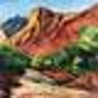 Zion Canyon, 100x150cm, mixed media