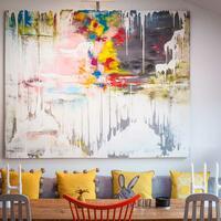 Large scale bespoke painting. Acrylic on canvas 1.8m x 2.0m