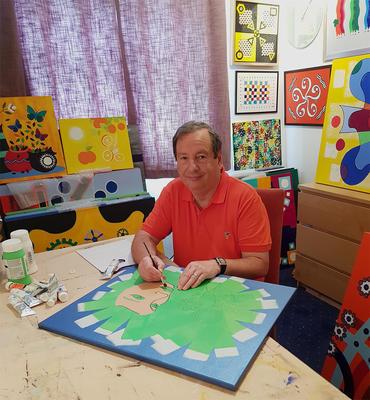 Michael Harris Wilson artist at work