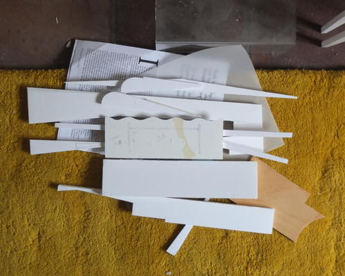 Off-cuts from sketch model-making