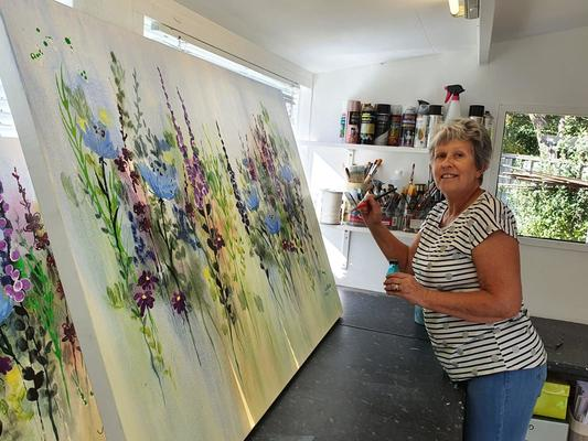 Judy Bywater at work