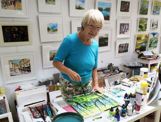 Mitzie in her studio