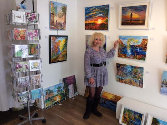 Mary Ann Day exhibiting at last year's Herts Open Studios