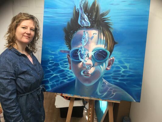 Sarah Gidden in her home studio.