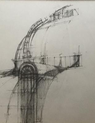 Palm House, Kew Gardens. 2B, HB Pencils