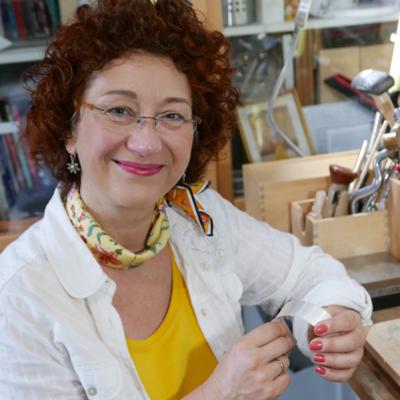 Sabine in her workshop