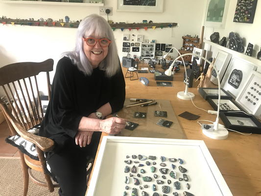 Maggie at work in her studio