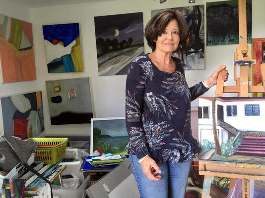 Me in my studio, taken today August 20th